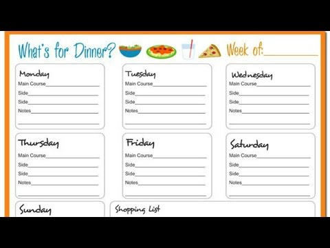 MEAL PLAN for Eating Disorder Recovery (Detailed + Calories)