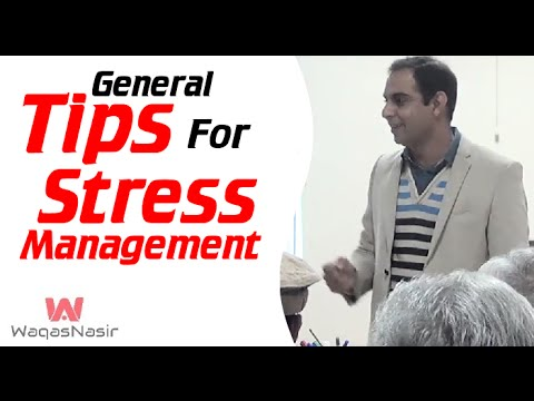 General Tips for Stress Management | Qasim Ali Shah | Urdu/Hindi | WaqasNasir