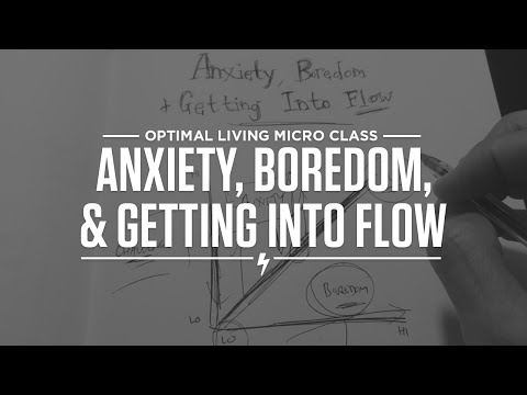 Micro Class: Anxiety, Boredom and Getting into Flow